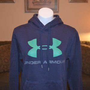 Under Armour Black Fitted Sweatshirt w Green Logo